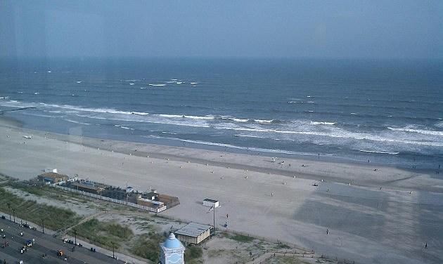 Ocean view from Caesar's in Atlantic City