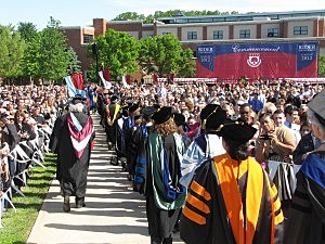 Commencement at Rider University