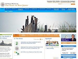 Screen shot of NJ.gov