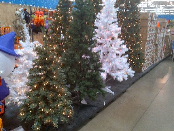 Christmas trees on sale at Walmart
