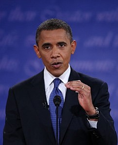 President Obama during the first debate