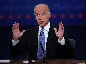 U.S. Vice President Joe Biden speaks during the vice presidential debate
