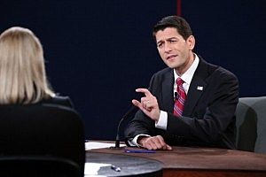 U.S. Rep. Paul Ryan (R-WI) speaks during the vice presidential debate