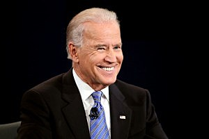 Vice President Joe Biden smiles during the vice presidential debate at Centre College October 11, 2012 in Danville, Kentucky
