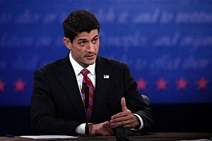 U.S. Rep. Paul Ryan (R-WI) speaks during the vice presidential debate at Centre College October 11, 2012 in Danville, Kentucky.