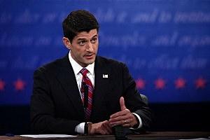 U.S. Rep. Paul Ryan (R-WI) speaks during the vice presidential debate at Centre College October 11, 2012 in Danville, Kentucky.
