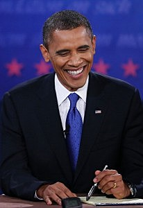 President Barack Obama at third Presidential Debate