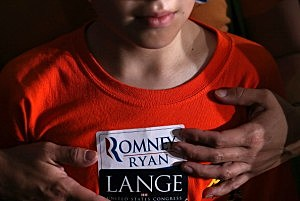 Young Mitt Romney supporter