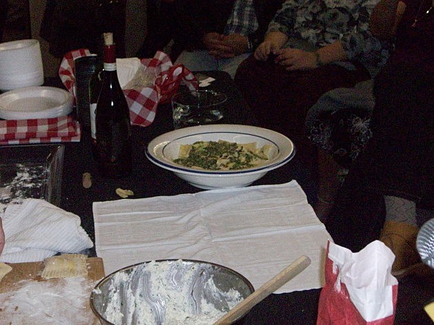 Pasta with Pesto provided by Dennis and Judi