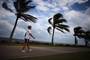 Hurricane Sandy's Winds Hit Florida Coast