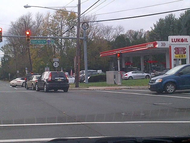 Lining for gas at the Luk Oil in Ewing