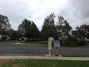 Damage in the Ramtown section of Howell