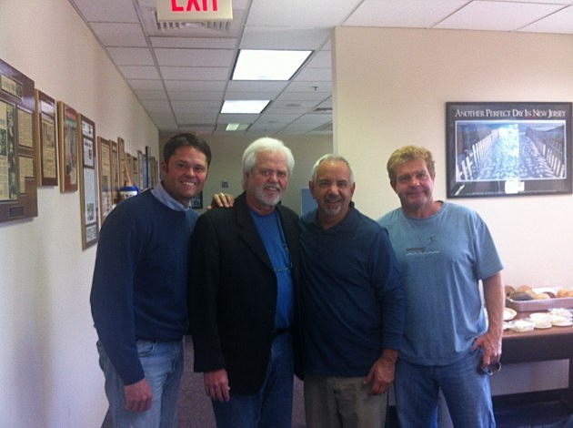 Dennis Malloy with Justin Osmond (Far left) and Merill Osmond (left)