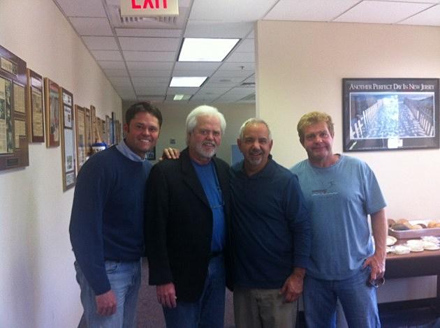 Dennis Malloy with Justin Osmond (Far left) and Merill Osmond (left)