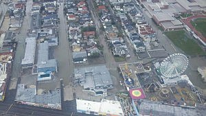 Aerial picture of damage from Sandy to Ocean City