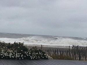 Belmar during Sandy