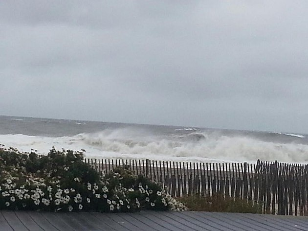 Belmar during Sandy