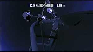 View from Felix Baumgartner's capsule as it climbs to 23 miles up