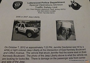Flyer handed out by Lakewood Police