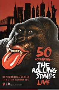 Concert poster for Rolling Stones Newark shows