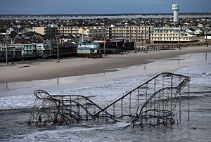 Submerged Seaside Heights roller coaster
