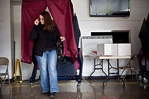 Voting at the Silver Bay Elementary School in Toms River