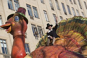 Tom Turkey in the Macy's Thanksgiving Parade