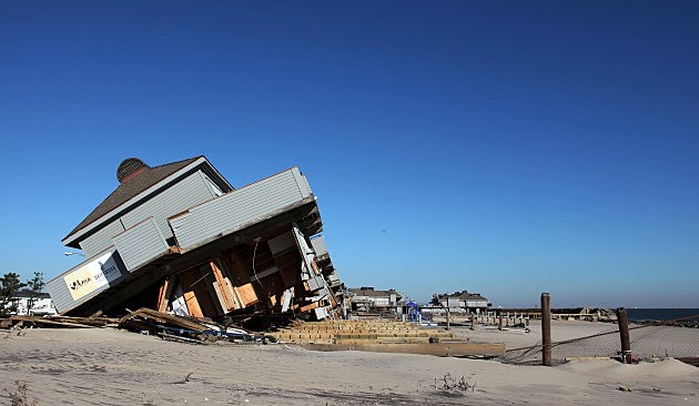Damaged building in Seaside Park