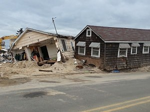 Homes in Mantoloking damaged from Sandy