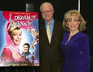 Larry Hagman and Barbara Eden