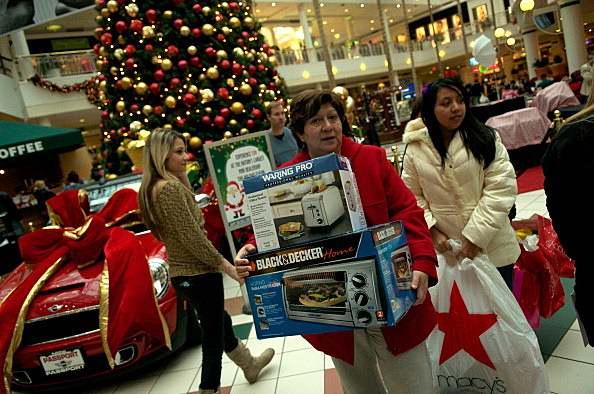 Black Friday Holiday Mall Shopping