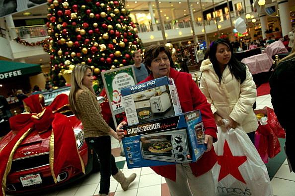 Black Friday Holiday Mall Shopping