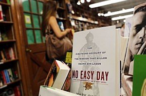 "A copy of ""No Easy Day"", written by a Navy SEAL about the killing of Osama bin Laden"
