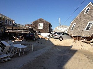 Damage in Normandy Beach from Hurricane Sandy