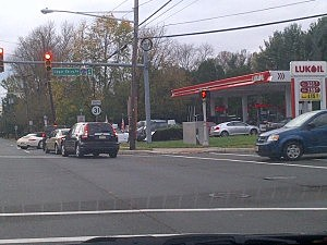 Lining for gas at the Luk Oil in Ewing (Dan Alexander, Townsquare Media NJ)