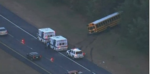 School bus accident on the Garden State Parkway in Egg Harbor Township