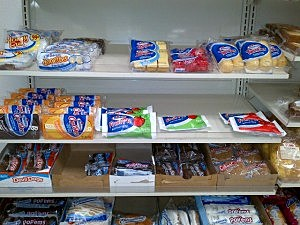 Display of Hostess products at 7-11 in Ewing