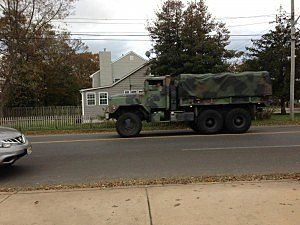 National Guard truck in Point Pleasant