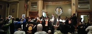 Chaos at Newark City Council meeting