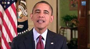 President Obama delivers Thanksgiving message