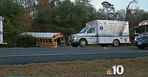 School bus crashes alongside the Garden State Parkway in Egg Harbor Township