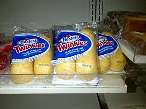 Hostess Going out of Business: Twinkies on display