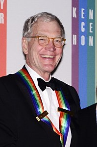 David Letterman poses for photographers during the 35th Kennedy Center Honors at the Kennedy Center Hall of States