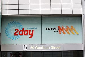 2dayFm offices in Goulburn Street in Sydney, Australia