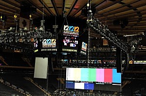 12-12-12 concert preparation at Madison Square Garden