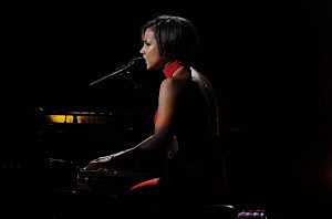Alicia Keys performs at 12-12-12 concert at Madison Square Garden