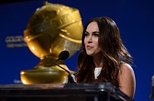 Megan Fox speaks onstage during the 70th Annual Golden Globes Awards Nominations