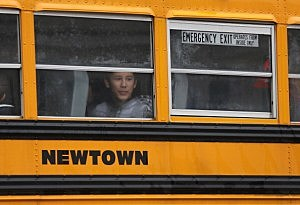 Children return to school in Newtown, CT