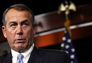 U.S. Speaker of the House Rep. John Boehner (R-OH) speaks during his weekly news conference