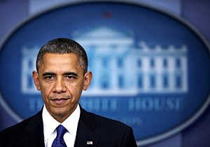 President Barack Obama delivers a statement on fiscal cliff